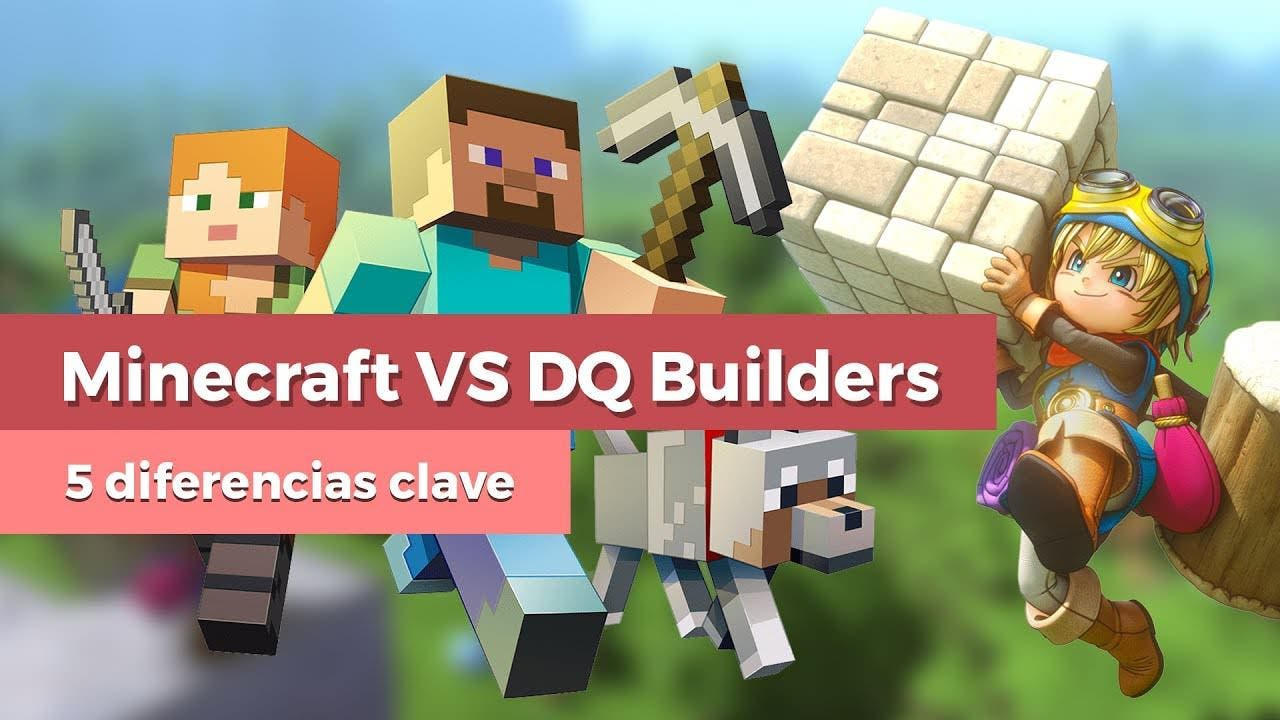 [Vídeo] 5 diferencias clave entre Minecraft y Dragon Quest Builders