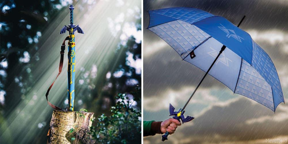 Merchoid revela este curioso paraguas oficial inspirado en la Espada Maestra de The Legend of Zelda