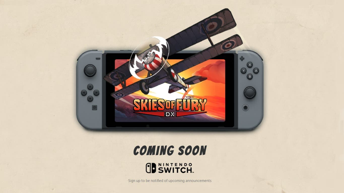 [Act.] Skies of Fury DX confirma su lanzamiento para el 12 de abril en Switch