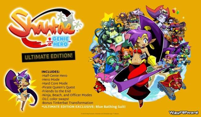 Shantae: Half-Genie Hero – Ultimate Edition contiene un traje de baño azul exclusivo