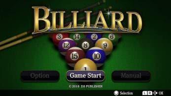 [Act.] Billiard llegará a Switch la próxima semana