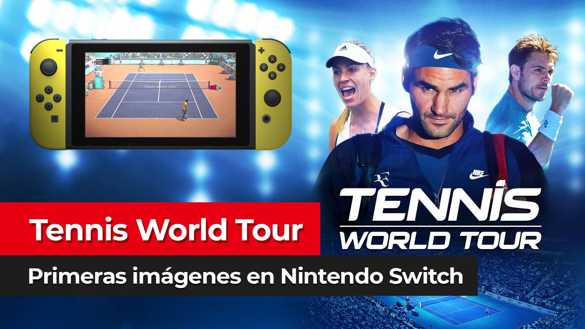 [Exclusiva] Primeras imágenes de Tennis World Tour en Nintendo Switch