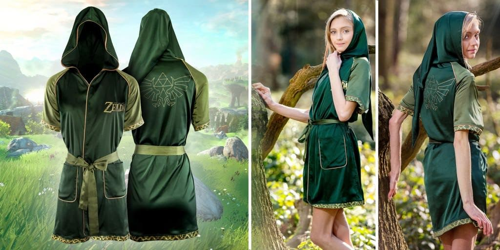 Merchoid revela una bata de mujer oficial inspirada en el atuendo de Link de The Legend of Zelda