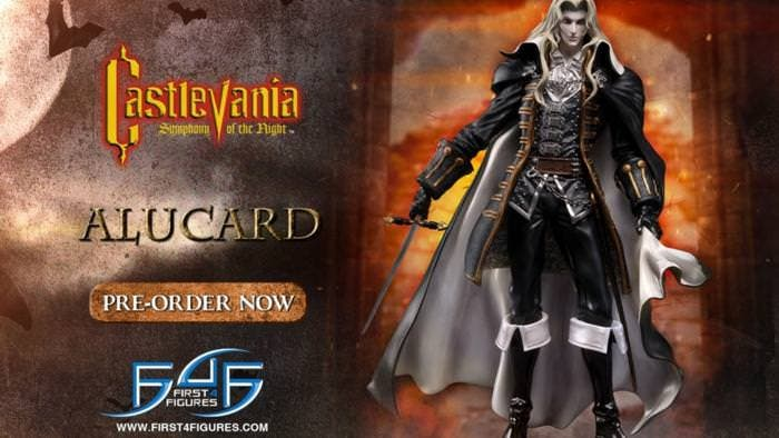 First 4 Figures está creando una figura de Alucard de Castlevania