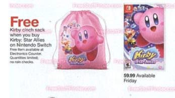 Target: Compra Kirby Star Allies y consigue esta mochila de Kirby