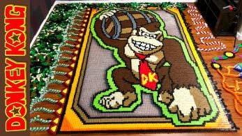 No te pierdas este tributo a Donkey Kong creado con más de 24.000 fichas de dominó