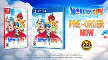 Monster Boy and The Cursed Kingdom se está reservando 10 veces más en Switch que en PS4