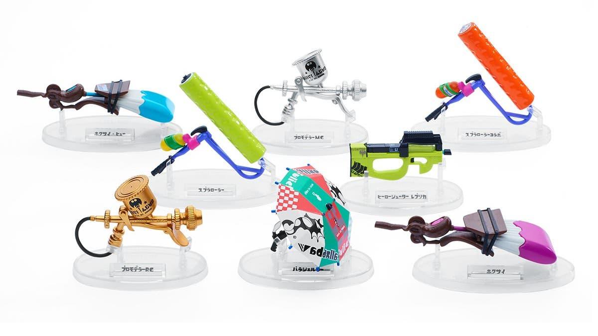 Bandai anuncia una nueva oleada de réplicas en miniatura de las armas de Splatoon 2