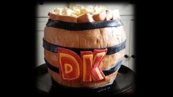 No te pierdas esta genial tarta en forma de barril de Donkey Kong