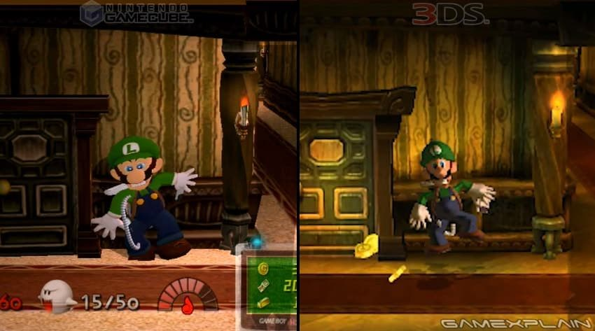Comparativa en vídeo de Luigi's Mansion: GameCube vs. 3DS