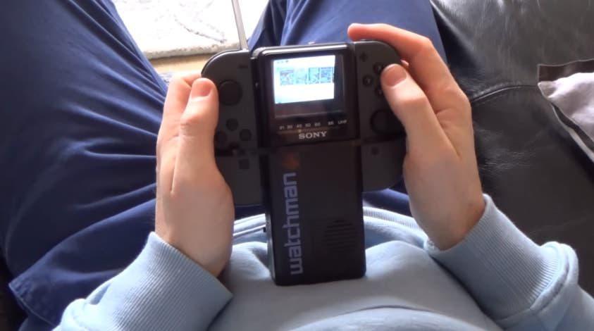 Logran jugar a Nintendo Switch en una pantalla de Sony Watchman