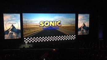 Primer vistazo al logo de la película de Sonic