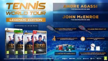 Tennis World Tour: Bonus por la reserva, Legends Edition y sitio web oficial