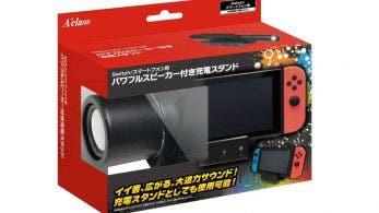 Echad un vistazo a este peculiar cargador que también incluye un potente altavoz para Nintendo Switch