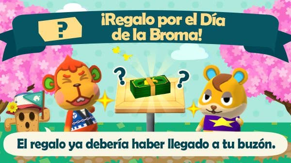 Animal Crossing: Pocket Camp celebra el April Fool's Day con esta curiosa recompensa