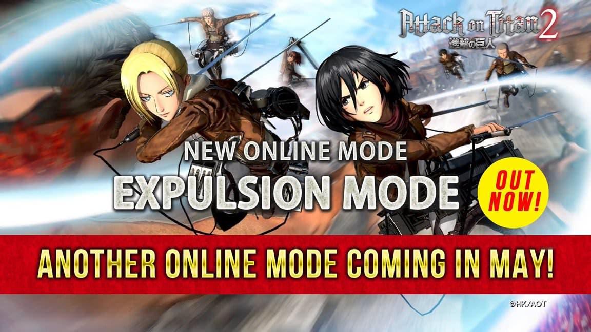 [Act.] Attack on Titan 2 recibe el Expulsion Mode, otro modo más llegará en mayo