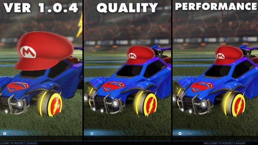 Comparativa en vídeo de las nuevas opciones gráficas incluidas en la versión 1.0.5 de Rocket League para Switch
