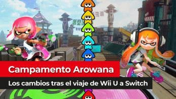 [Vídeo] Comparativa de Campamento Arowana en Splatoon 2 para Switch y Splatoon para Wii U