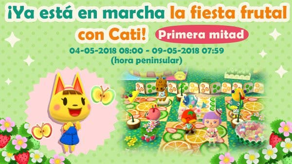 La fiesta frutal con Cati llega a Animal Crossing: Pocket Camp