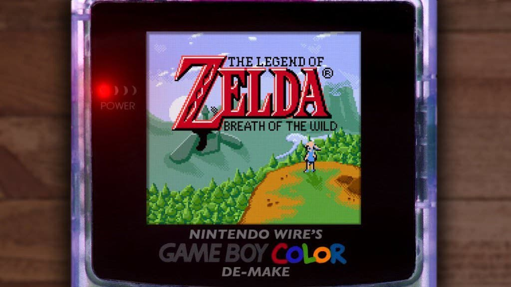 Vídeo: Un fan logra recrear Zelda: Breath of the Wild en Game Boy Color