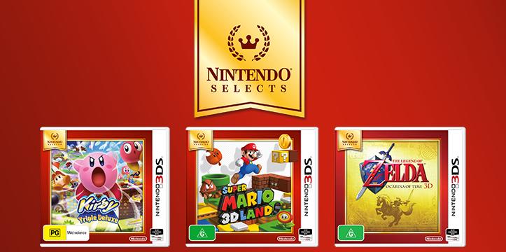 Tres nuevos juegos de 3DS se unen al catálogo de Nintendo Selects australiano