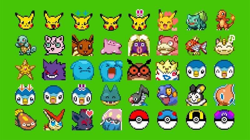 """LINE recibe un nuevo pack de pegatinas de Pokémon llamado """"Pokémon Pictograph"""""""