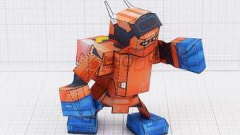 Alucina con este papercraft del robot de Nintendo Labo