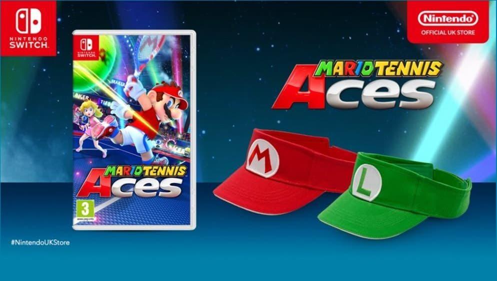 La Nintendo UK Store regala esta genial visera de Mario o Luigi con la reserva de Mario Tennis Aces