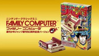 Vídeo e imágenes oficiales de Nintendo Classic Mini Famicom Weekly Shonen Jump 50th Anniversary Edition