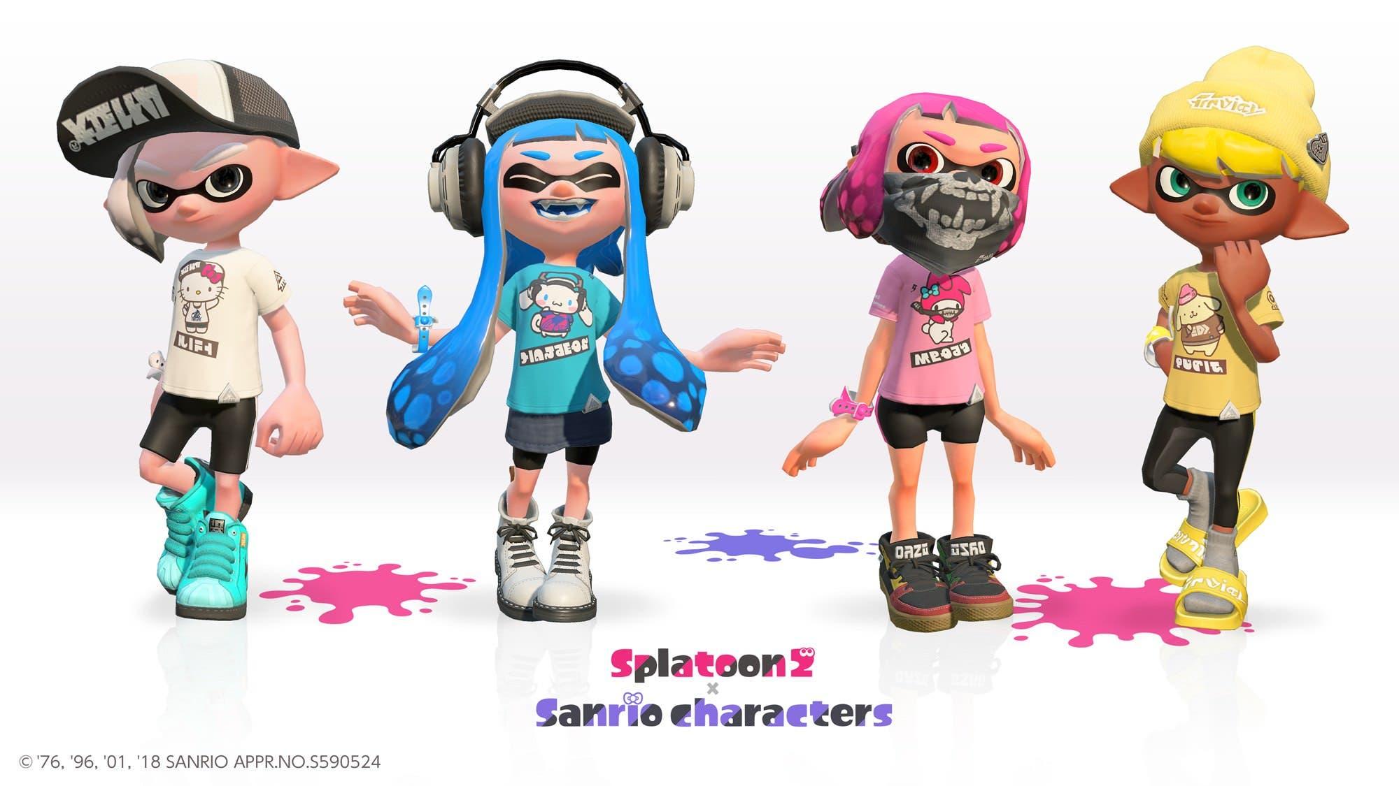 Se anuncia una colaboración entre Splatoon 2 y Sanrio para Splatfests y camisetas en Japón