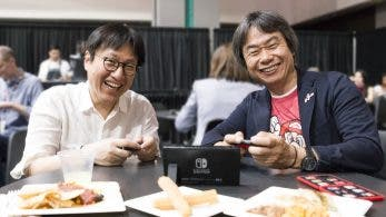 Takahasi y Miyamoto juegan juntos a Donkey Kong Country: Tropical Freeze en el E3