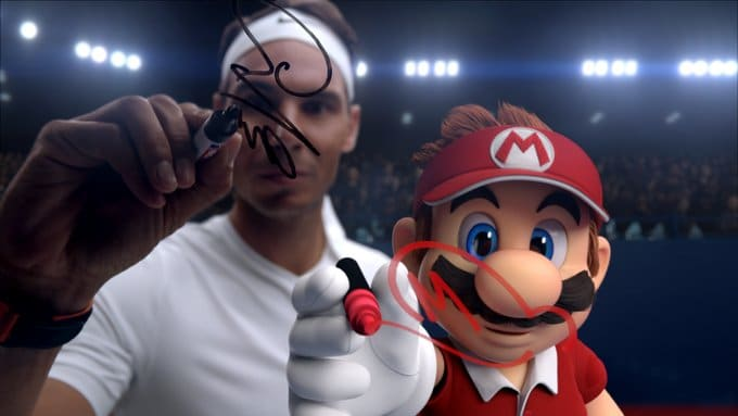 Nadal juega contra Mario para promocionar el videojuego Mario Tenis