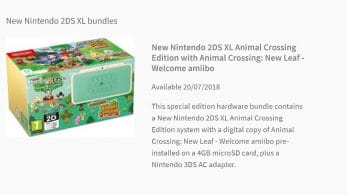 Desvelado un nuevo pack europeo de New Nintendo 2DS XL Animal Crossing Edition con Animal Crossing: New Leaf – Welcome amiibo