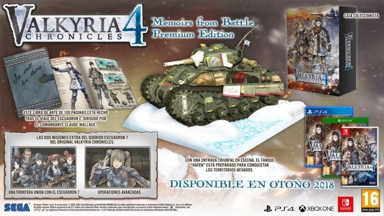 Unboxing de la Valkyria Chronicles 4: Memoirs from Battle Premium Edition