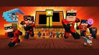 Minecraft recibe un pack de skins de Los Increíbles en Switch y Wii U