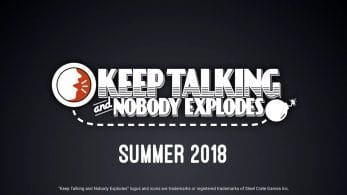 Keep Talking and Nobody Explodes llega este mismo verano a Nintendo Switch