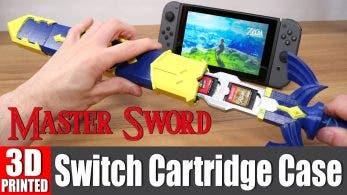 Esta Espada Maestra creada con impresión 3D nos permite guardar los cartuchos de Switch