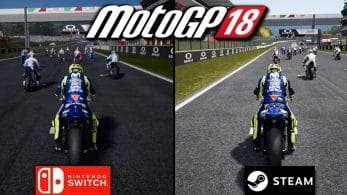 No te pierdas este gameplay y varias comparativas de MotoGP 18 en Nintendo Switch