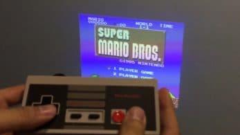 Convierte tu NES o SNES Mini en una consola portátil con el proyector OJO