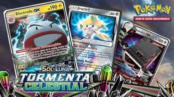 Anuncio oficial y nuevos detalles de la expansión Sol y Luna-Tormenta Celestial del JCC de Pokémon
