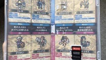 Un vistazo a la portada interna de la versión japonesa de Octopath Traveler