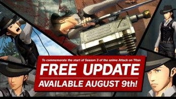 Attack on Titan 2 se actualizará gratuitamente con contenido basado en la tercera temporada de la serie el 9 de agosto