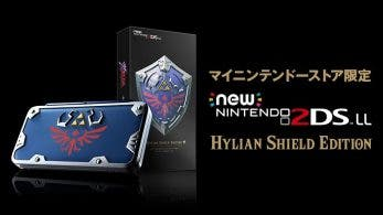 La New Nintendo 2DS LL Hylian Shield Edition llegará a Japón