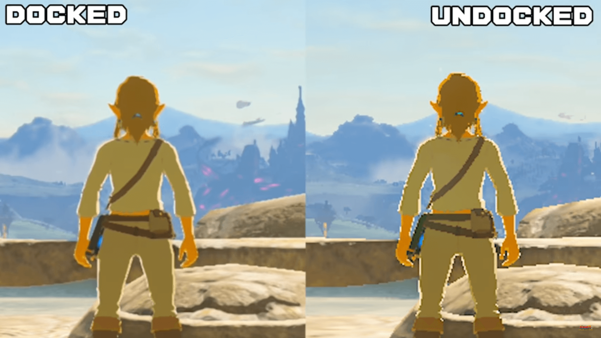 Comparación directa entre el modo portátil y sobremesa de Zelda: Breath of the Wild para Switch