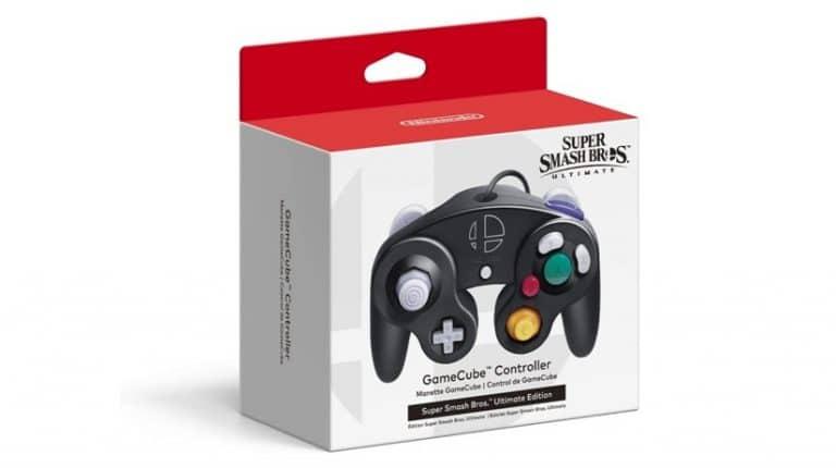 Así luce la caja del mando de GameCube Edición Super Smash Bros. Ultimate para Nintendo Switch