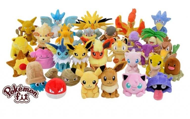 Japón recibirá este año una línea de peluches de los 151 Pokémon originales