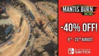 Mantis Burn Racing cuenta con una rebaja del 40% por tiempo limitado en la eShop de Switch