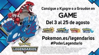 Ya ha comenzado la distribución de Groudon y Kyogre para Pokémon Sol, Luna, Ultrasol y Ultraluna en España