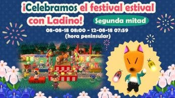 Da comienzo la segunda mitad del festival estival de Ladino en Animal Crossing: Pocket Camp