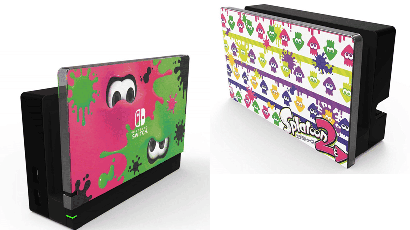 Así son las skins de Splatoon para el dock de Nintendo Switch